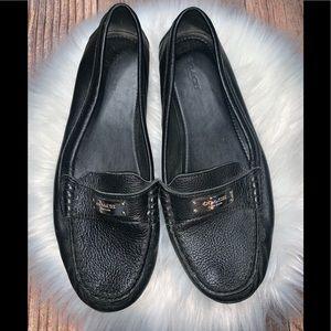 Coach black Fredrica loafers 9